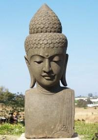 "SOLD Large Stone Garden Buddha Head 60"" (#83ls116): Hindu ..."