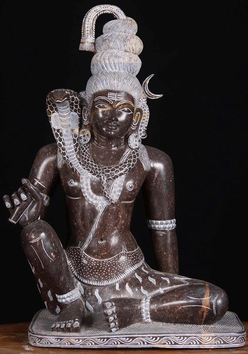 Lord Shiva Black Hd Wallpapers Sold Marble Seated Chillum Shiva Statue 14 Quot 80bm4