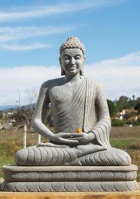 "Granite Meditating Buddha Garden Statue 40"" (#62g14"