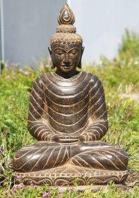 """Stone Meditating Garden Buddha Statue 29"""" (#85ls108"""