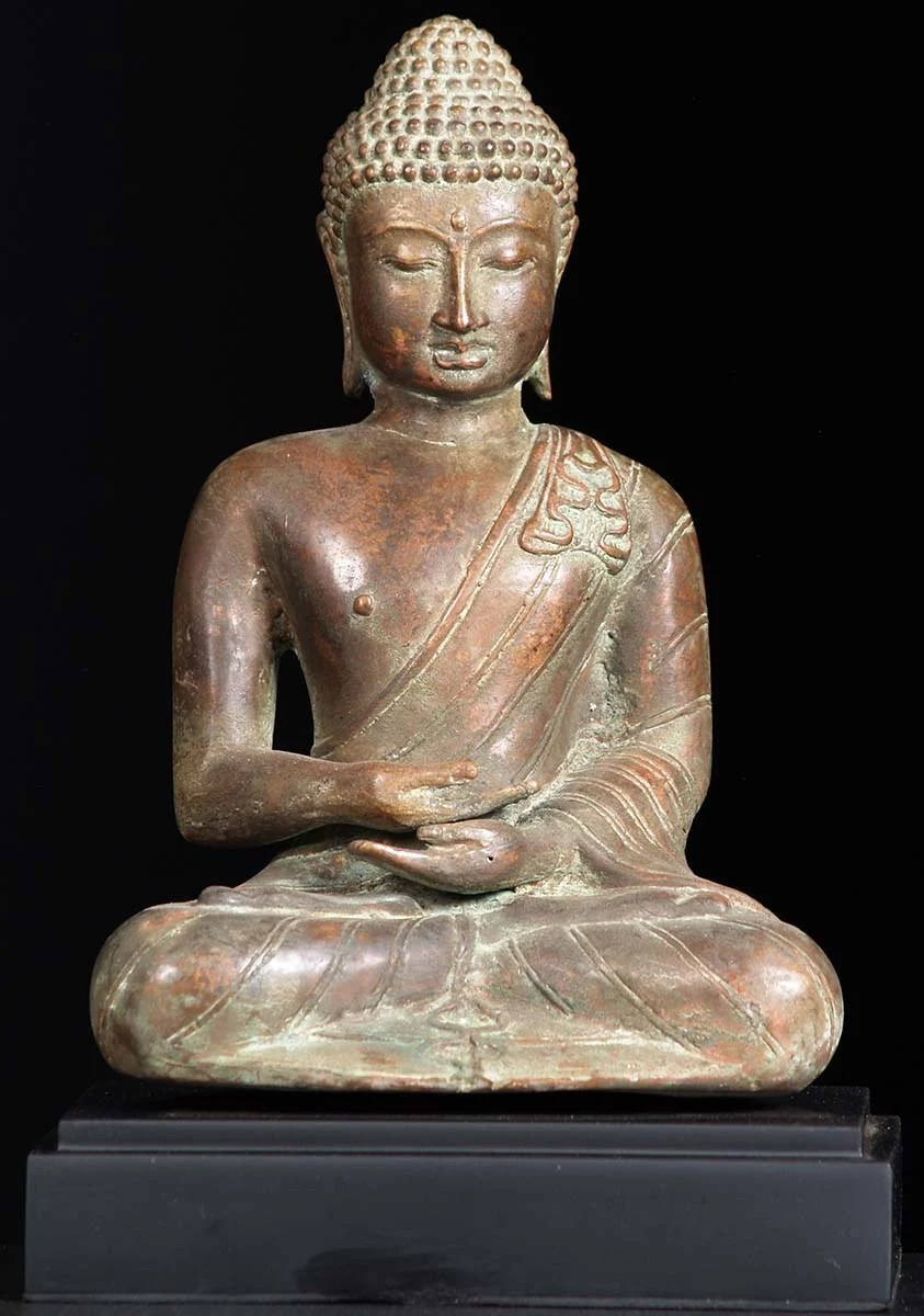 "SOLD Brass Meditating Buddha Statue 12"" (#81bb20): Hindu"