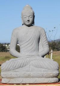 "SOLD Stone Meditating Garden Buddha Statue 40"" (#52ls41"