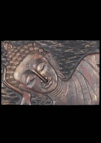 "SOLD Wood Reclining Buddha Wall Panel 36"" (#34w4b): Hindu ..."