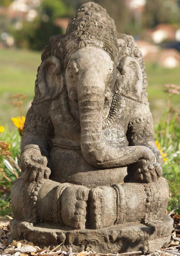 """Sold Stone Balinese Ganesh Statue 24"""" #67ls31 Hindu"""