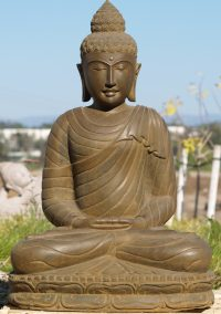 "SOLD Stone Meditating Buddha Statue 33"" (#77ls12): Hindu"