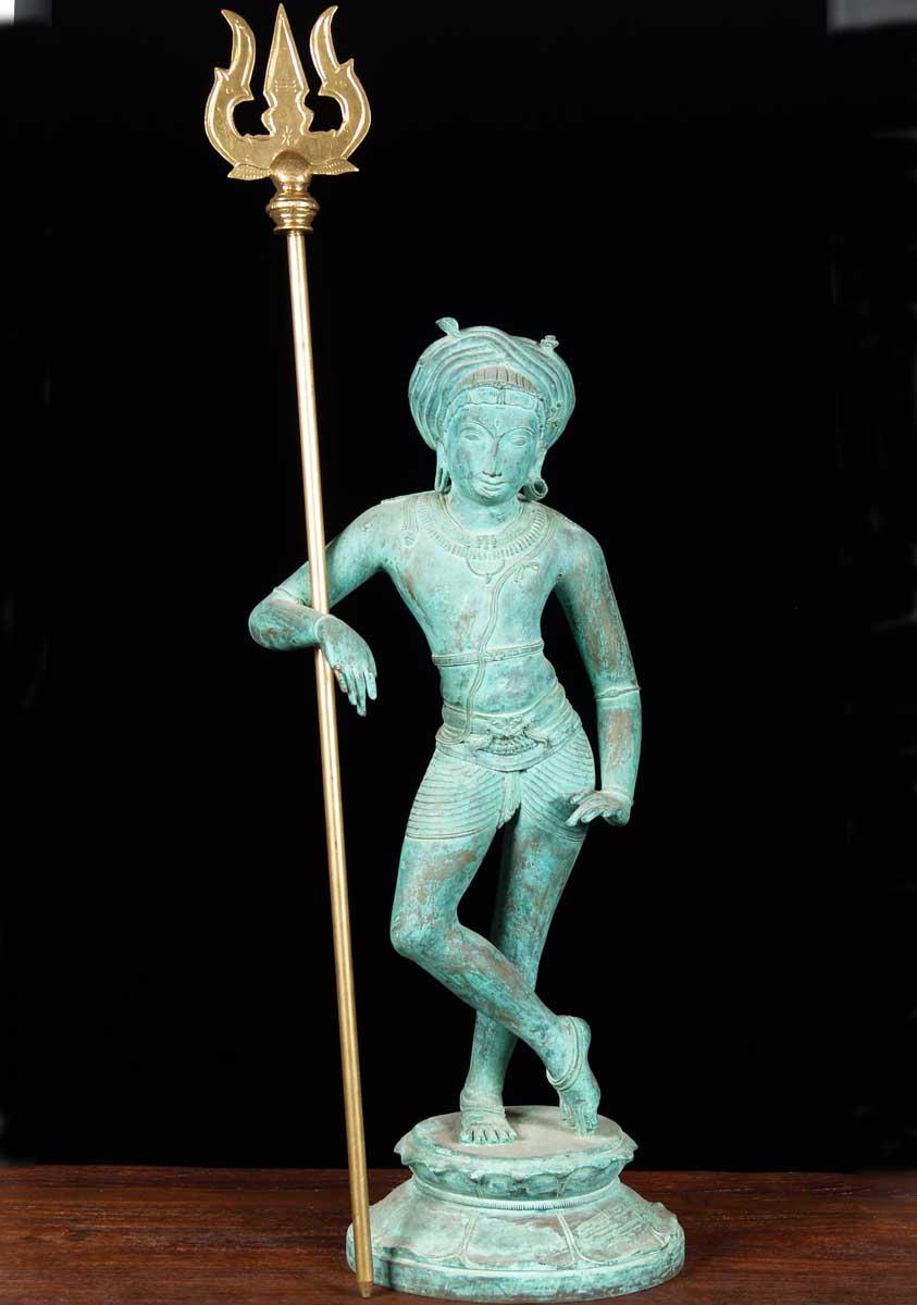 Sold Shiva S Trishul Or Trident 37 Quot 64b21 Hindu Gods