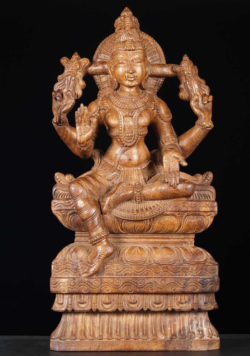 Sold Wood Statue Of Vishnu The Preserver 24 Quot 65w13u