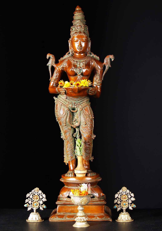 Brass Deepa Lakshmi Statue 32 72bs4z Hindu Gods  Buddha Statues