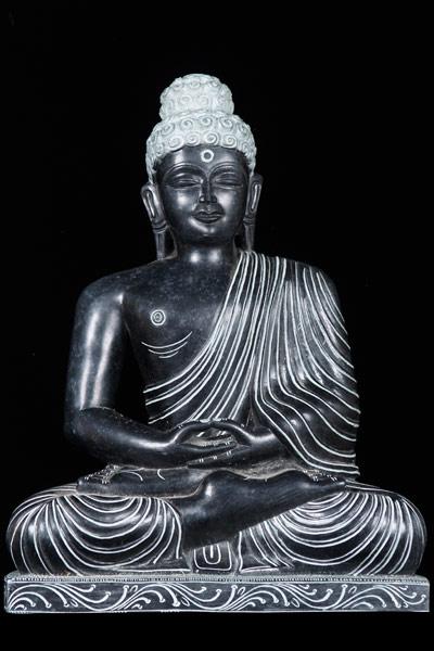 Sold Meditating Black Marble Buddha Statue 14 Quot 52bm51