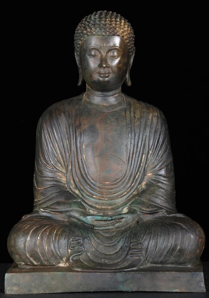 SOLD Japanese Meditating Buddha Statue 15 55t3 Hindu