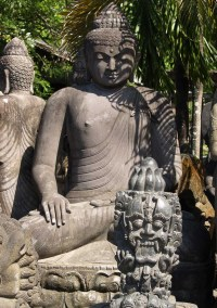 "SOLD Large Stone Garden Buddha Statue 7'1"" (#67ls53 ..."