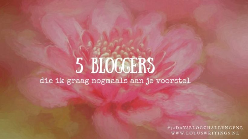 vijf bloggers