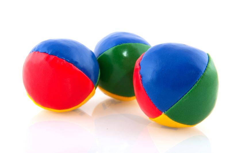 alle ballen in de lucht tag