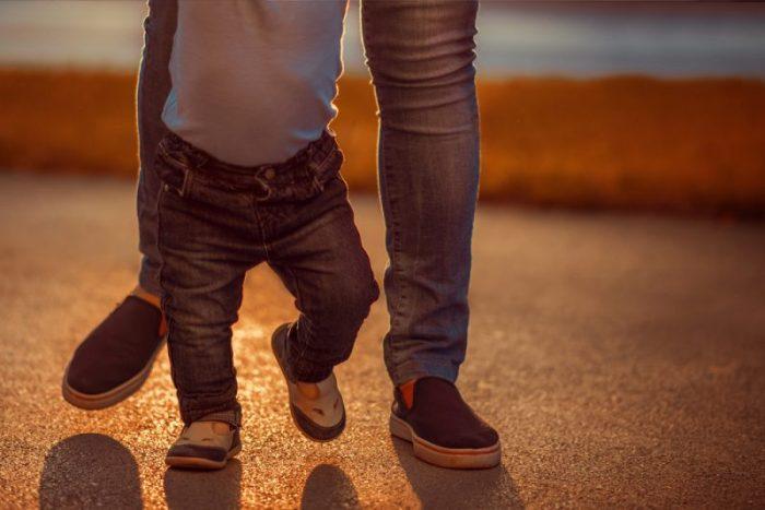 kind is laat met lopen