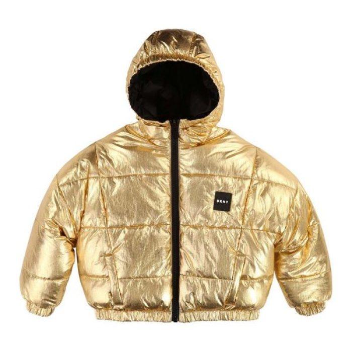 trends winterjassen 2019 2020 metallic jas DKNY