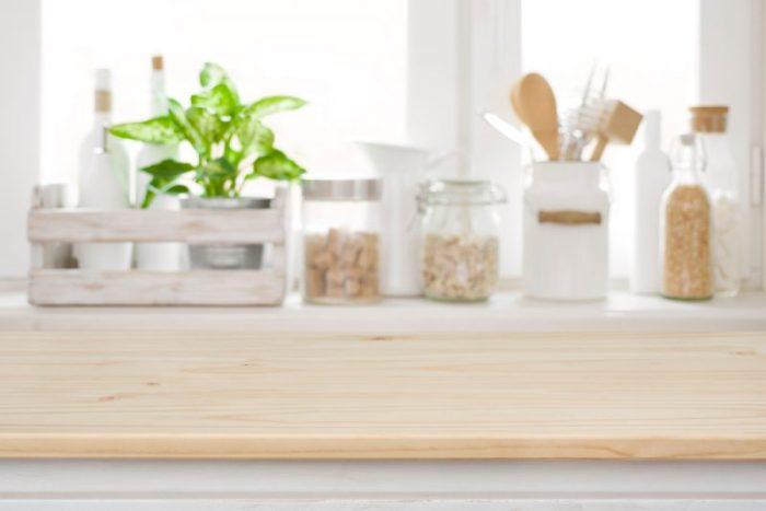 houten werkblad keuken
