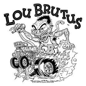 BRUTUS BUILT MY HOT ROD STICKER 424X425