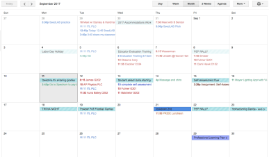 getting organized with google calendar