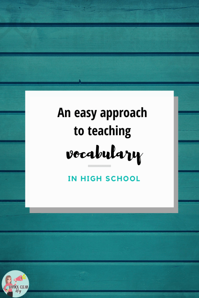 easy approach to vocabulary