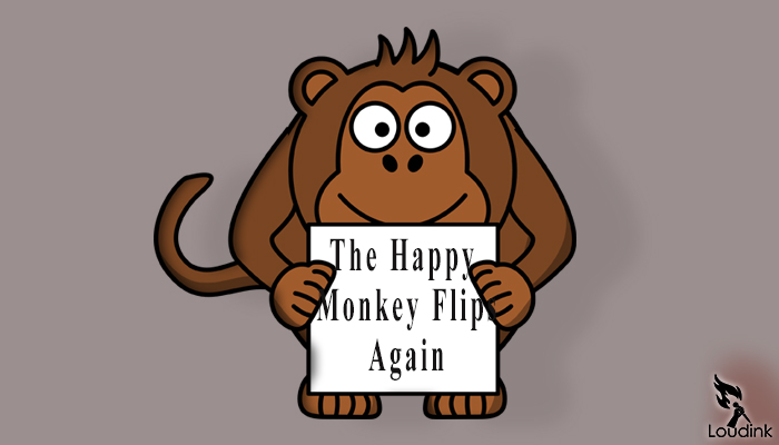 the happy monkey flips again Poem @ Loudink