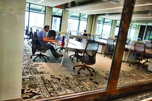 The Brickyard incubator offices in Ashburn. (Photo by Douglas Graham/Loudoun Now)