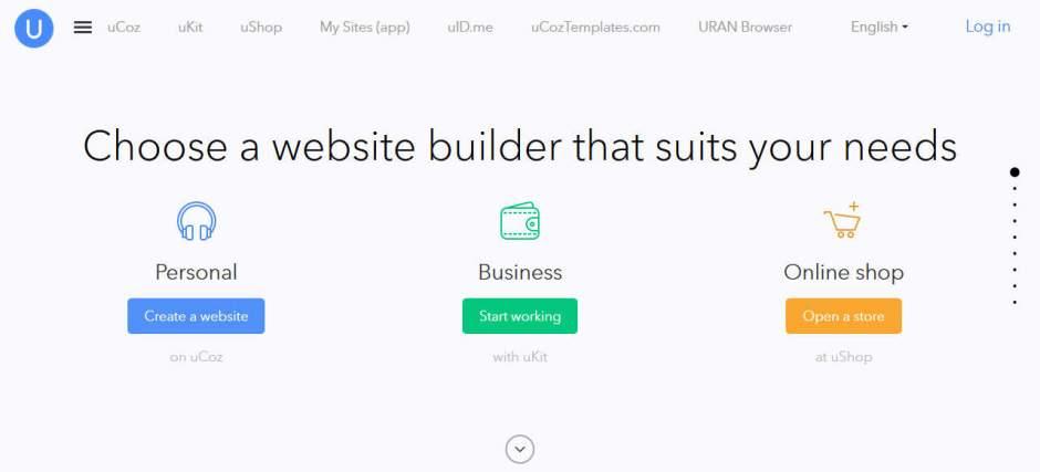 Ucoz Online Free Website Builder