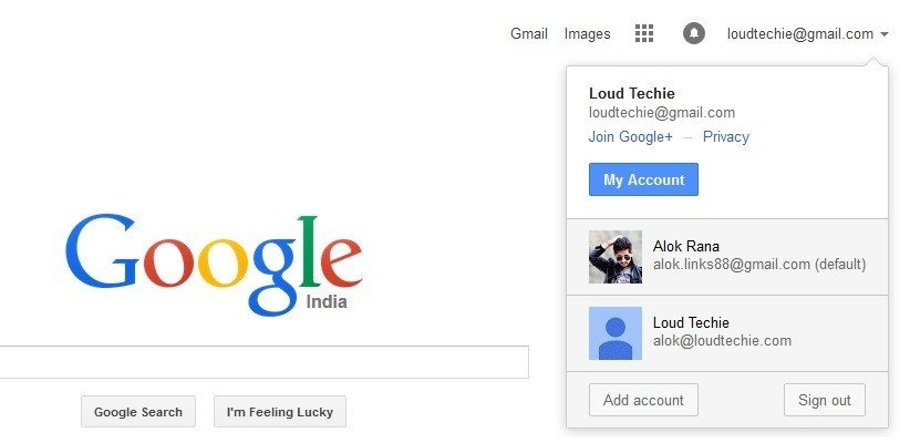 How to switch multiple gmail accounts