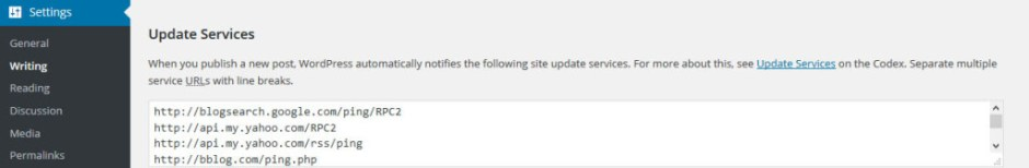 How to Update WordPress Ping List