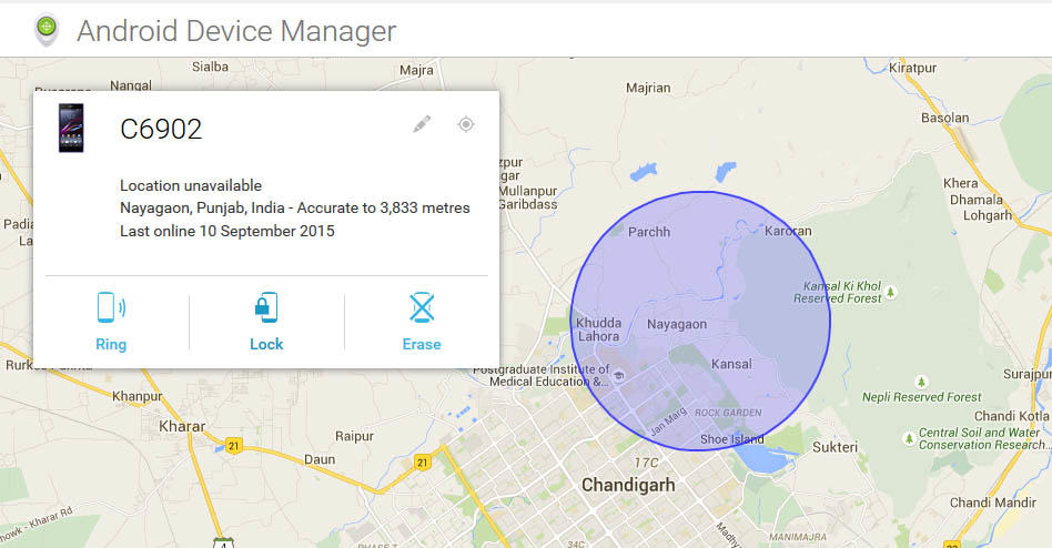 Android Device Manager Interface
