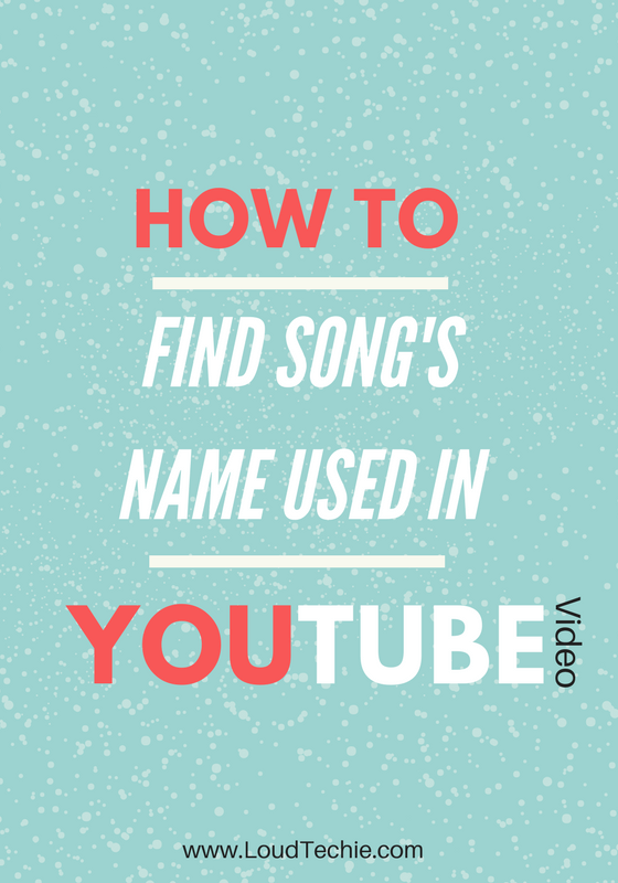 How To Find Song's Name Used In A YouTube Video