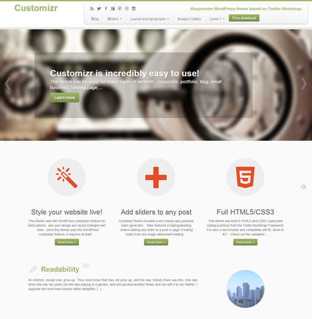 Customizr Free WordPress Business Theme