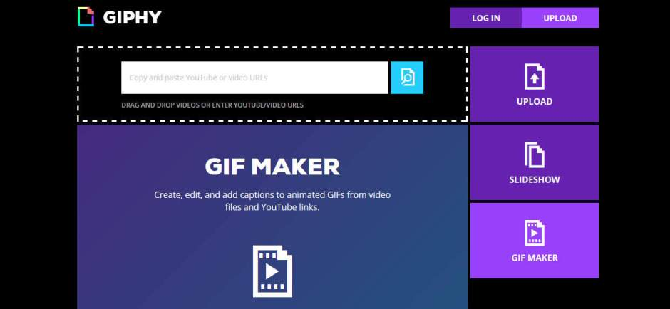 Giphy Best Websites to Create GIF Images from YouTube Videos
