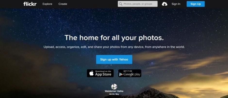 Flickr Free Image Sharing Websites