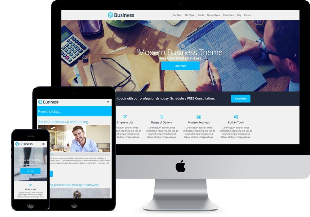 Business Free WordPress Business Services Theme