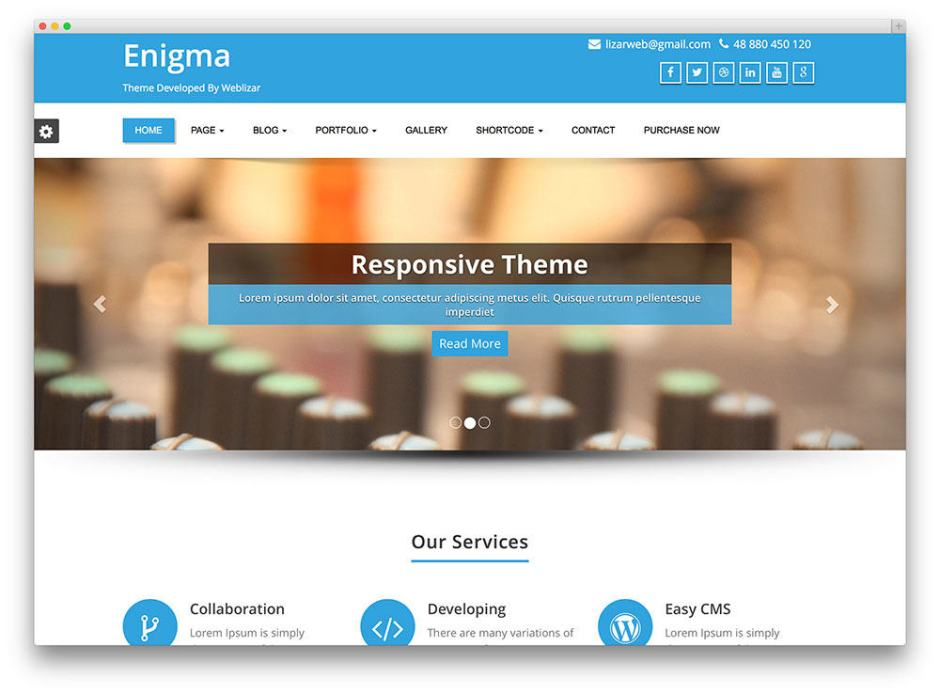Enigma Free WordPress business themes