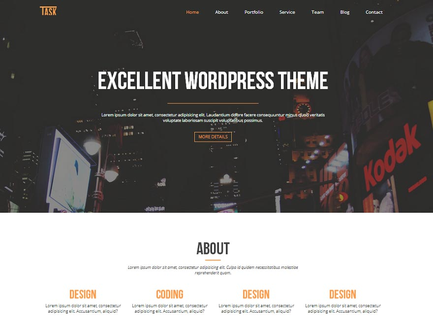 Business One Free WordPress business theme