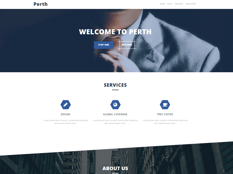 Perth free wordpress business themes