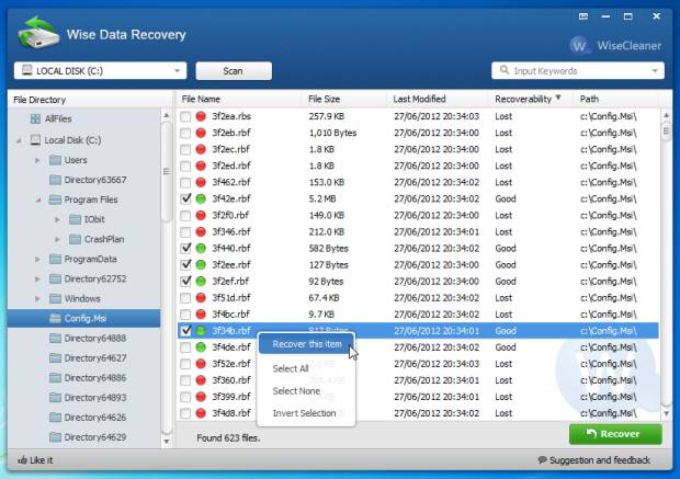 Wise Data Recovery Best recovery software 2016
