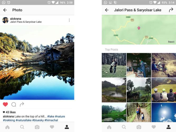 Instagram Geotagging with Photos