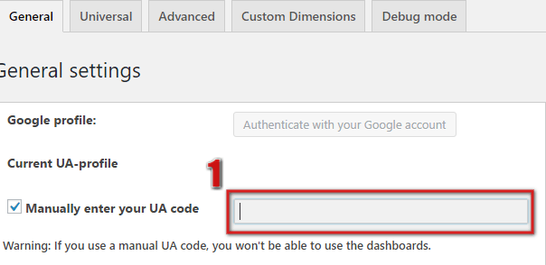 How to Enter UA code manually in MonsterInsights