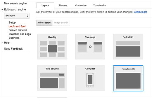 How To Add Google Custom Search box in WordPress
