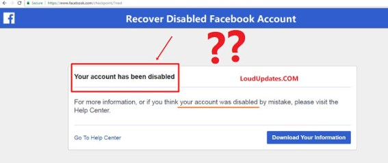 Recover Disabled Facebook Get Back Your Account