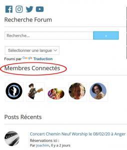 Membres connectés
