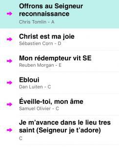 Playlist Louange1
