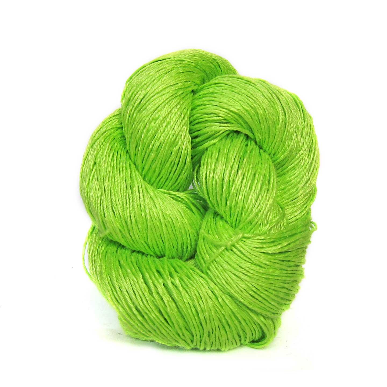 Flourescent Green Louet Euroflax Linen Yarn