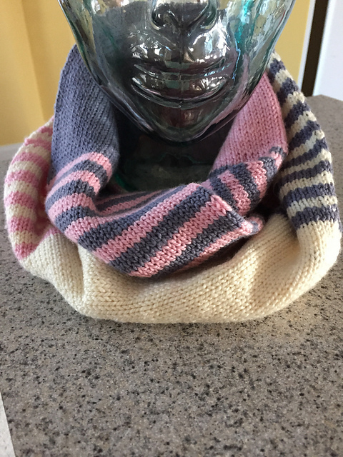 Free Pattern Sixes And Threes Cowl Easy Beginning Knitting Pattern