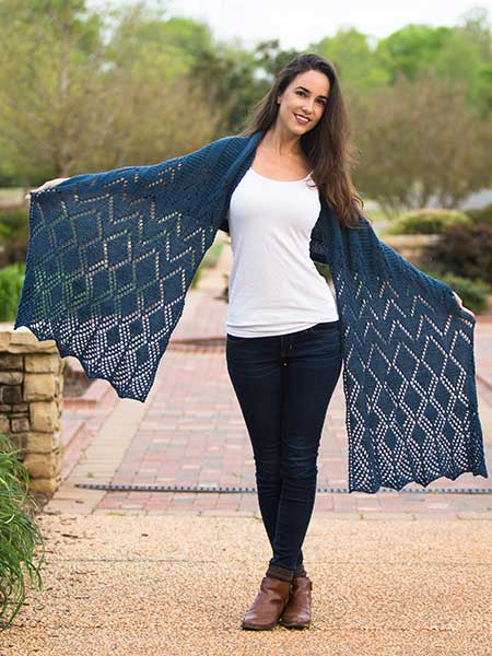 Plein Air Shawl Pattern Louet North America