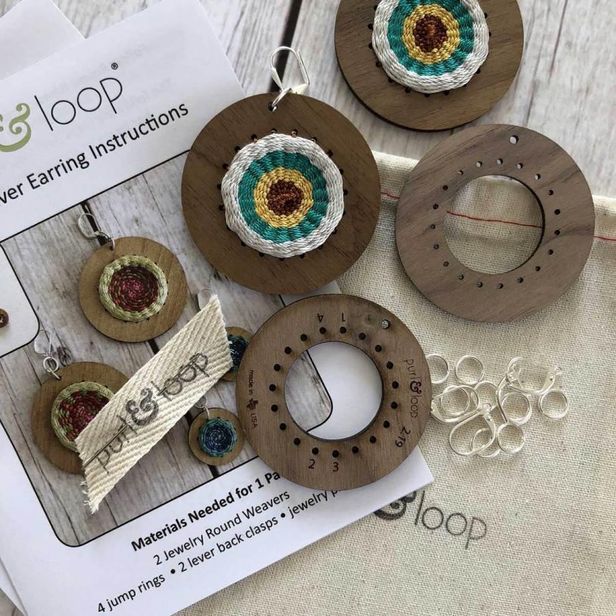 Purl & Loop Round Weavers Earring Kit