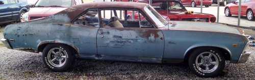 small resolution of 1969 chevy nova sold primered v 8 350 auto rachet shifter engine runs 2 door 3 700
