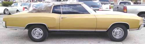 small resolution of 1972 chevy el camino sold red brown cloth interior 350 v 8 auto a c am fm radio runs drives needs restored floor pan rust behind seat